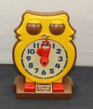 Vintage 1975 Tomy Answer Clock - Owl - No Batteries Needed!