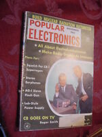 POPULAR ELECTRONICS magazine November 1961 CB Roger Smith Ephram Zimbalist, Jr