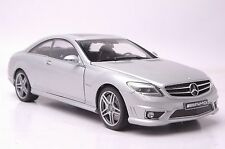 Benz CL63 AMG car model in scale 1:18 silver