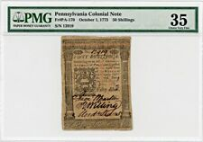 FR. PA170 October 1, 1773 50s Pennsylvania Colonial Note PMG Very Fine 35