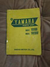 YAMAHA YB100 F GENUINE PARTS MANUAL