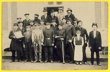 cpa Carte Photo TROUPE Deguisement Costumes Uniformes second Empire 1870 Hussard