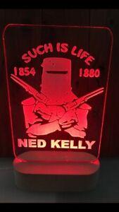 Ned Kelly LED sign light 240mm x 140mm
