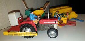 BRITAINS MF 135 Traktor & Geräte Konvolut, tractor, tracteur, trattore wie siku