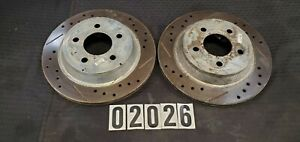 94-04 FORD MUSTANG COBRA SVT REAR DRIVER AND PASSENGER POWER STOP ROTORS 02026