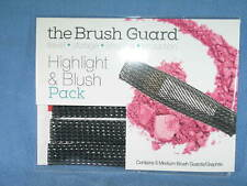 THE BRUSH GUARD Highlight & Blush Pack 5 Medium GRAPHITE Brush Guards - NEW