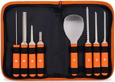 PROFESSIONAL PUMPKIN CARVING KIT - STAINLESS STEEL TOOLS & KNIVES  CARRYING CASE