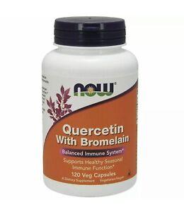 Quercetin with Bromelain - 120 Veg caps - NOW Foods