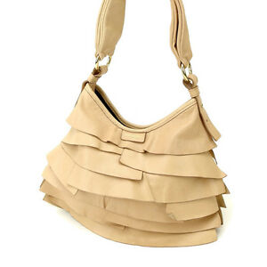 Saint Laurent Handbag Beige Gold Woman Authentic Used Y1130