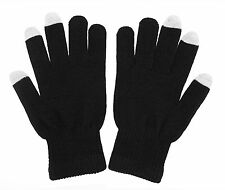 Gloves, Touch screen unisex one size Gloves for iPhone,  iPad, etc (Black)