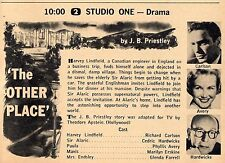 1958 Tv Ad~The Other Place by J.B. Priestley~Richard Carlson~Phyllis Avery