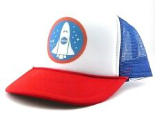 Nasa space shuttle Trucker Hat mesh hat snapback hat RWB new adjustable 1980's