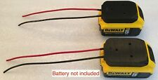 2x battery adapter  DeWALT 20v MAX 12 gauge 18volt power connector dock robotics