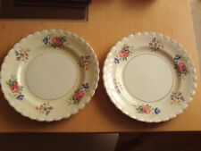 "Vintage X2 J&G Meakin Sol Plates ~ Floral Spray ~ Just over 9 3/4"" Across."