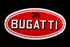 placca smaltata ovale ettore BUGATTI insegna 6.5cm x 16.5cm