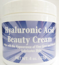 Hyaluronic Acid Beauty Cream 4 oz Anti-Aging Day Night Moisturizer Skin Care NEW