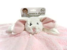 Blankets and Beyond Security Blanket Bunny Pink Lovey Fleece Baby New