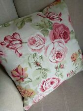 "16"" REVERSIBLE Clarke & Clarke Genevieve Old Rose Cushion Cover Floral"
