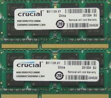 """Crucial RAM 8GB Kit DDR3 PC3-10600 1333MHz für letzte 2011 Apple MacBook Pro"""""""