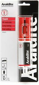 Araldite Rapid 24ml Syringe - Strong Adhesive Glue - Solvent Free 6, 12, 24 Pcs