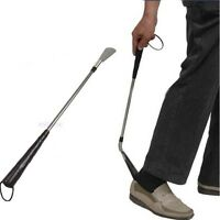 Portable Stainless Steel Long Handle Shoe Horn Lifter Flexible Shoehorn Hot