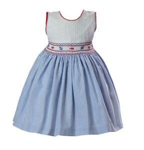 Pretty Originals Dress with Headband &  Smocking  Style BD01793 AGE 2Y 3Y 4Y