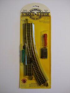 Bachmann Nickel Silver E-Z Track System Remote Switch Left Item No. 44561