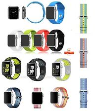 Replace Nylon Sports Silicone Strap For Apple Watch Band 38/42mm Series 3/2/1