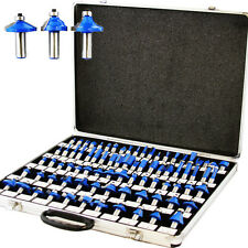 "80pc 1/4"" Shank Tungsten Carbide Router Bit Set 3 Blade Power Tools Accessories"
