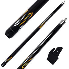"""58"""" Pool cue 2 Piece Billiard Stick Maple Shaft 13mm Leather Tip with Free Glove"""