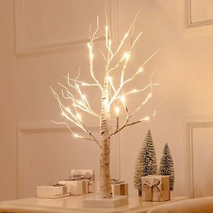 24LED Twig Birch Table Tree Lights Up Holiday Christmas 2FT Branch Lamp Decor UK