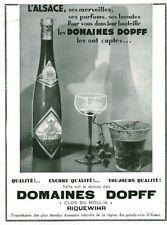 Publicité ancienne vins Alsace domaines DOPFF Clos du Moulin  1936
