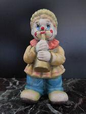 Statuette clown céramique terre cuite fait main art déco design XXe PN France
