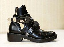 1500$ BALENCIAGA Ceinture black grey cut out ankle boots sz 40 uk 6.5-7 us 8.5-9