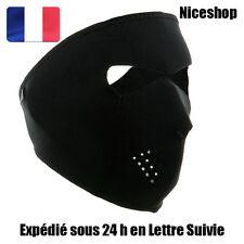 Masque E Néoprène Intégral Noir Paintball Airsoft Cagoule Protection Sports