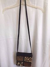 Samir Women's Small Cross Body Zippered Leather Handbag Purse