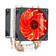 Pro LED CPU Quiet Dual Fan Cooler Heatsink for Intel Socket LGA2011/LG1366 AMD
