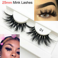 Handmade Natural Long  False Eyelashes Fluttery Thick Wispies 100% 3D Mink Hair