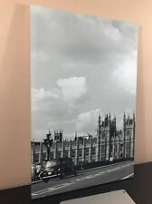 Wall Art Canvas FRAMED Home Decor HD B&W Print London Westminster Palace(16X24)