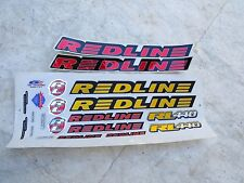 REDLINE DECALS RL 440 RED / GOLD bmx cruiser freestyle VINTAGE NOS
