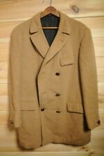 "Vintage Tiger of Sweden Llama Wool Coat 40/42"" Tan Brown Medium"