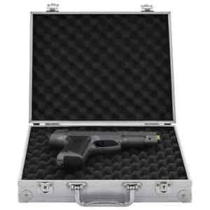vidaXL Custodia per Pistola in Alluminio ABS Argento Box Contenitore Valigetta