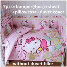 6pc. Infant Girls Hello Kitty Pink Nursery100% Cotton Crib Bedding Set