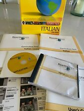 Rosetta Stone Italian Level 1 and 2 No Microphone All Manuals Included