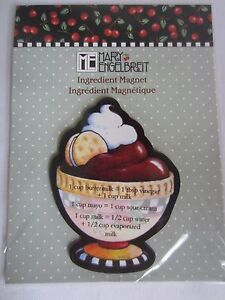 Mary Engelbreit Ingredient Substitution Refrigerator Magnet Dessert Bowl NEW