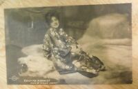 Early 1900's Evelyn Nesbit Posing Ready for Mischief Postcard Unused
