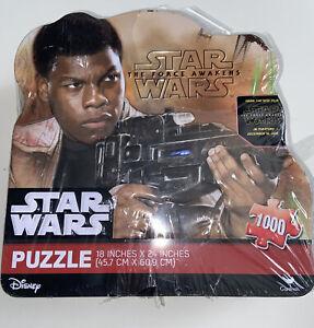 "Disney Star Wars The Force Awakens 1000 Piece Puzzle in Tin  FINN  18"" x 24"" New"