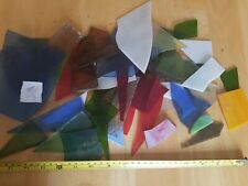 1kg+ stained glass pieces mosaic window sun catchers offcuts mixed sizes 3