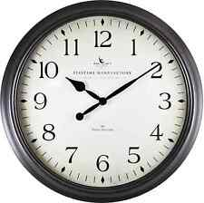 Large 20 in. Round Decorative Avery Whisper Analog Wall Clock Modern Home Decor