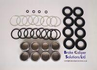 FRONT Brake Caliper Repair Kit + Pistons for NISSAN 200 SX S14 Sumitomo BCKP1